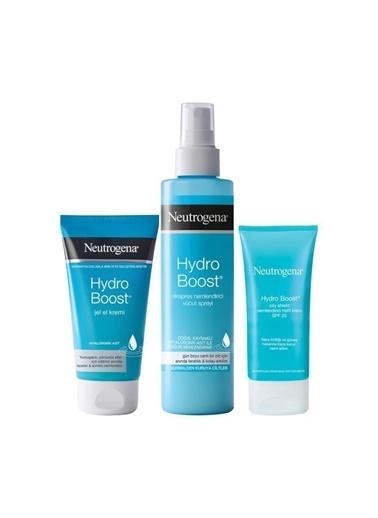 Neutrogena Hydro Boost Nemlendirici Vücut Spreyi 200 Ml+Nemlendirici Krem 50 Ml+El Kremi 75 Ml Renksiz